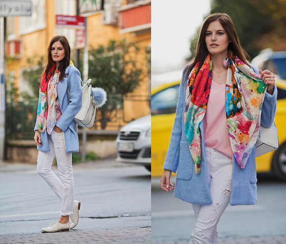 preppy outfit ideas with scarves 9