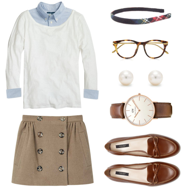 preppy outfit ideas with skirts 2