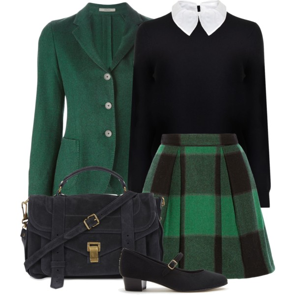 preppy outfit ideas with skirts 6