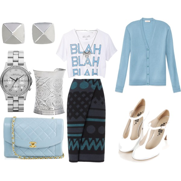preppy outfit ideas with skirts 9