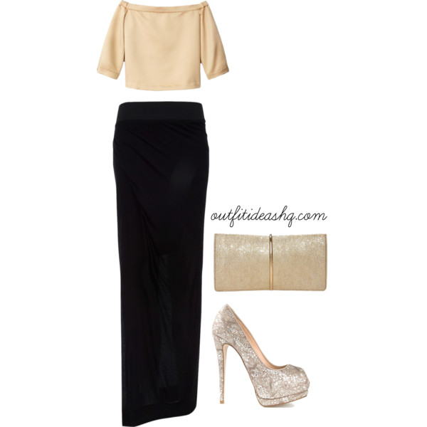 Outfit Ideas with Long Fitted Skirts