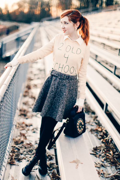high school preppy girl outfit 20