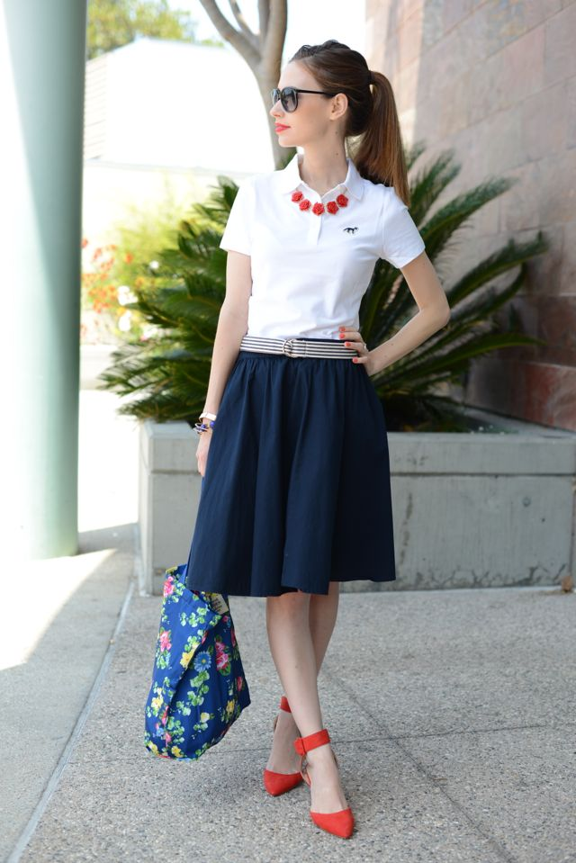 high school preppy girl outfit 3