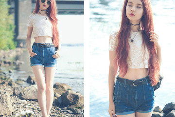 outfit ideas with high waist shorts 4