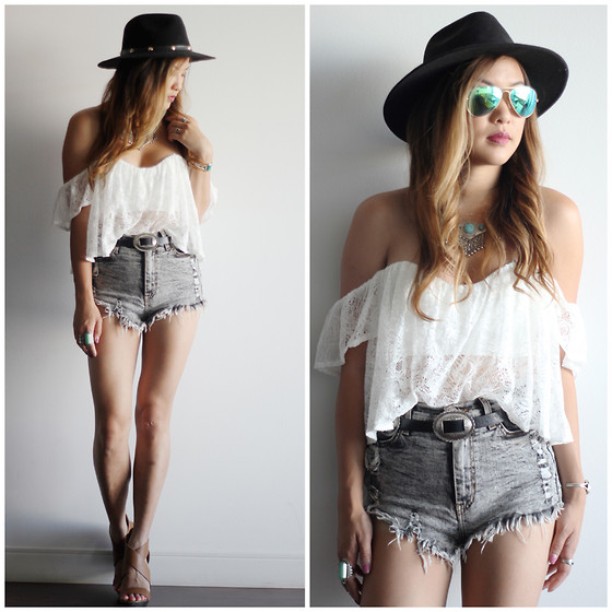 Crop Top Outfits With High Waisted Shorts - The Else