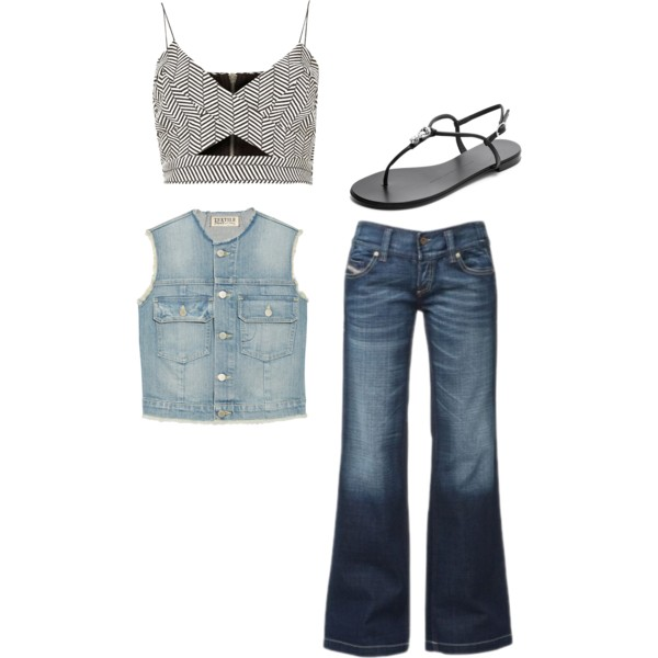 how to style denim jean vest 12