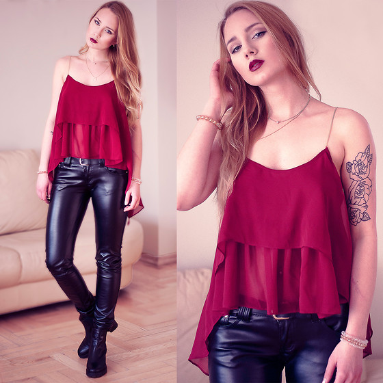 leather pants outfit ideas style 10