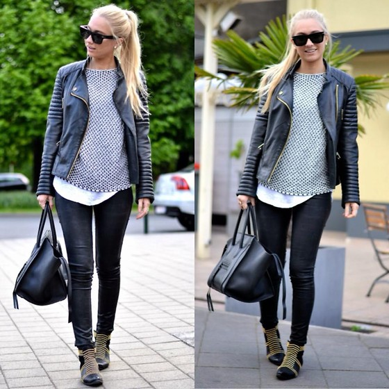 leather pants outfit ideas style 9