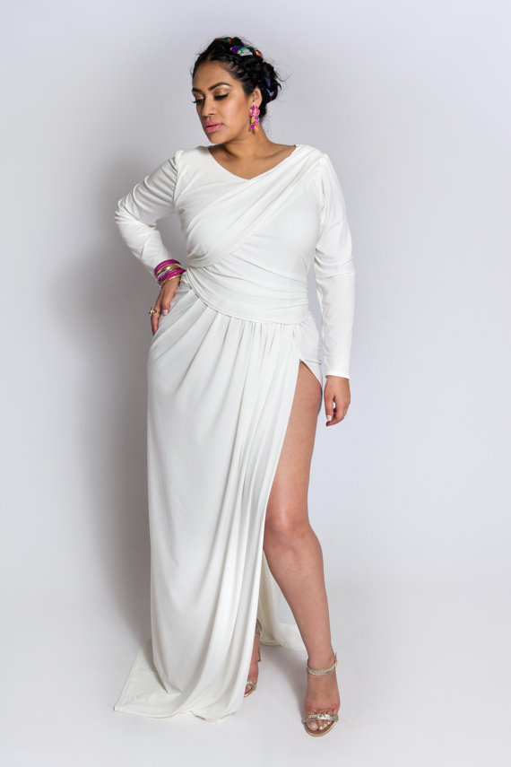 Stunning Long White Dress Plus Size Images - Mikejaninesmith.us ...