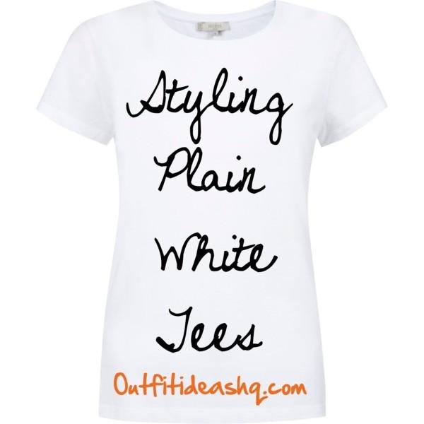styling plain white tee shirt 11