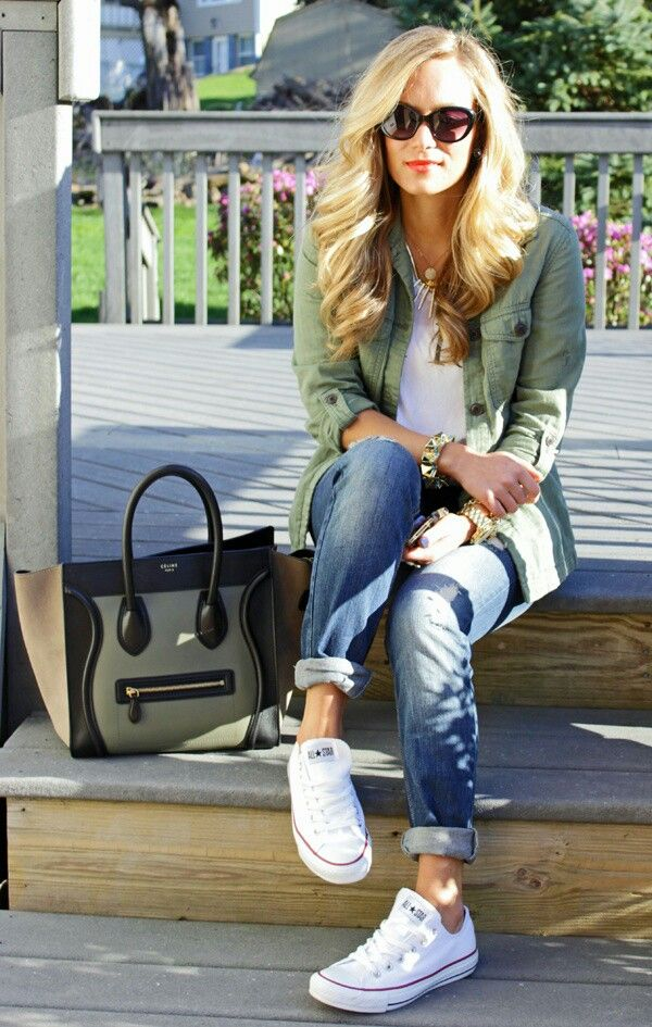Outfit Ideas with White Sneakers - Outfit Ideas HQ