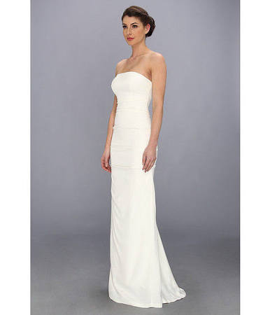 The Column Dress Has A Narrow Shape That Flows Straight Down To Bottom It Hugs Body And Shows Curves Of Bride