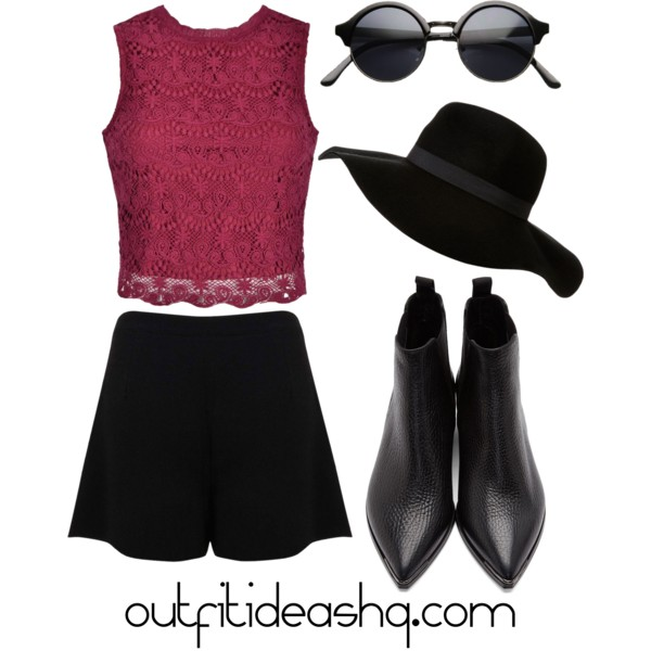 outfit ideas with black skorts 1
