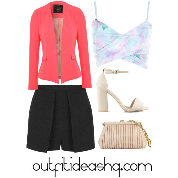 outfit ideas with black skorts 10