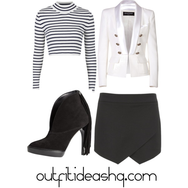 outfit ideas with black skorts 2