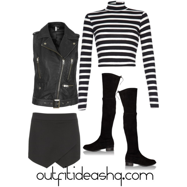 outfit ideas with black skorts 5