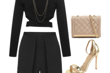 outfit ideas with black skorts 7