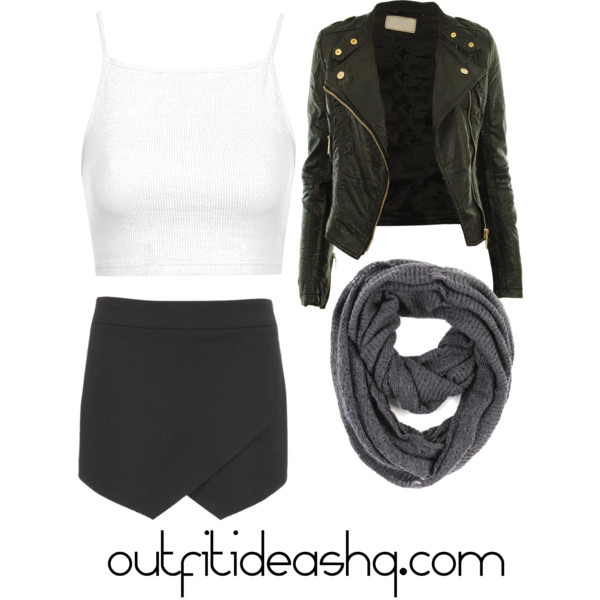 outfit ideas with black skorts 8