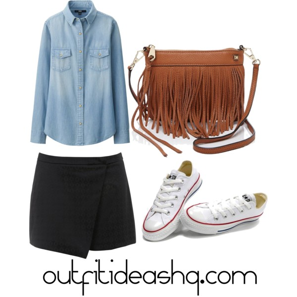outfit ideas with black skorts 9