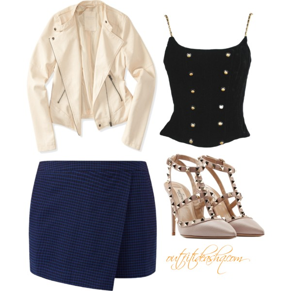outfit ideas with navy skort 7