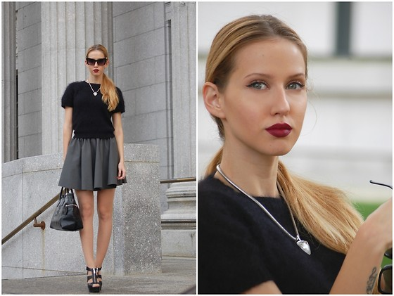outfit ideas with pleated skirt 3