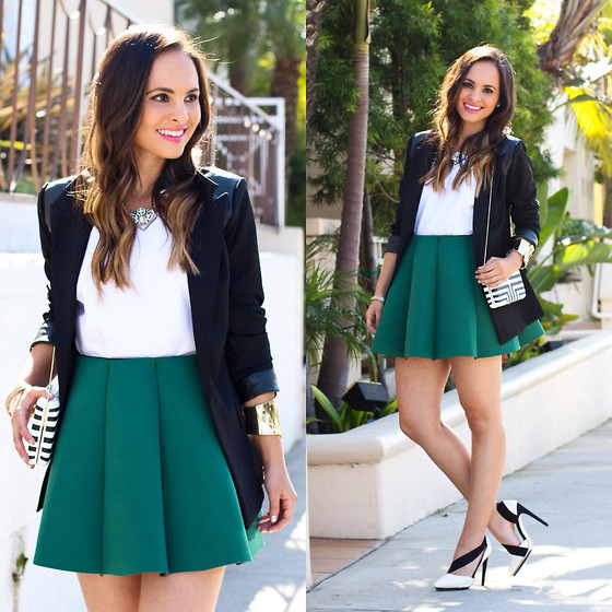 outfit ideas with pleated skirt 9
