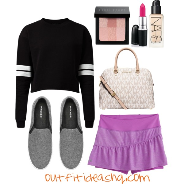 outfit ideas with sport athletic skorts 4