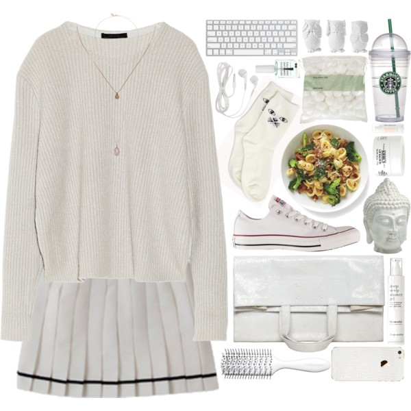 outfit ideas with white pleated tennis skirt 1