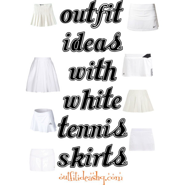 outfit ideas with white pleated tennis skirt 11