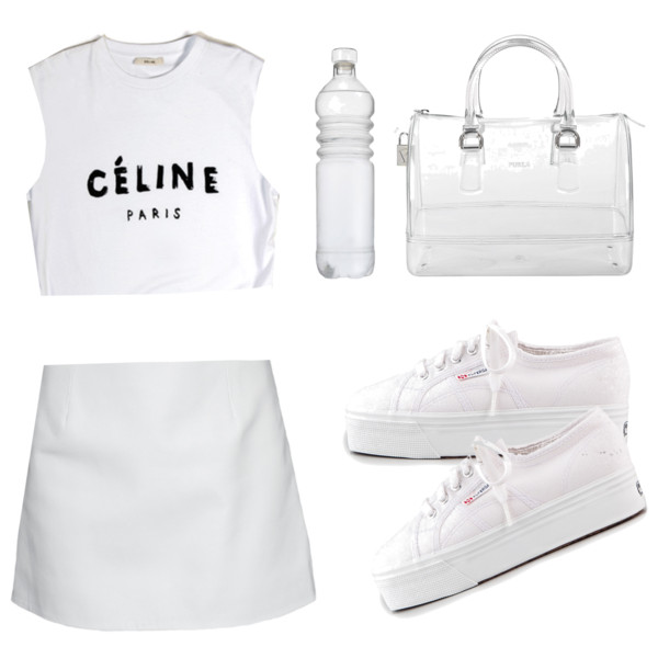 outfit ideas with white pleated tennis skirt 8
