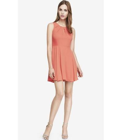 coral dress for spring and summer 2