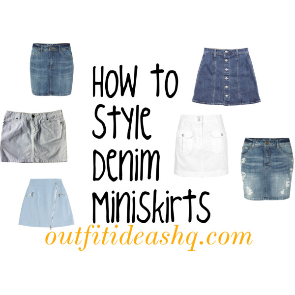 how to wear denim mini skirt outfit ideas 11