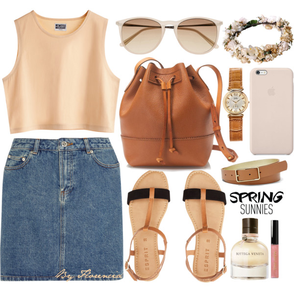 How to Style Denim Miniskirts and Outfit Ideas - Outfit Ideas HQ