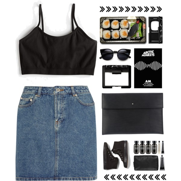 how to wear denim mini skirt outfit ideas 8How To Wear Denim Mini Skirt
