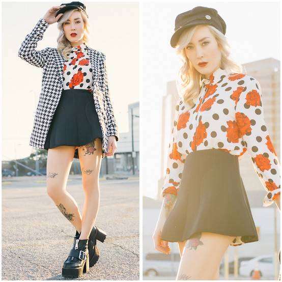 mixing and matching different print and patterns outfit ideas 1