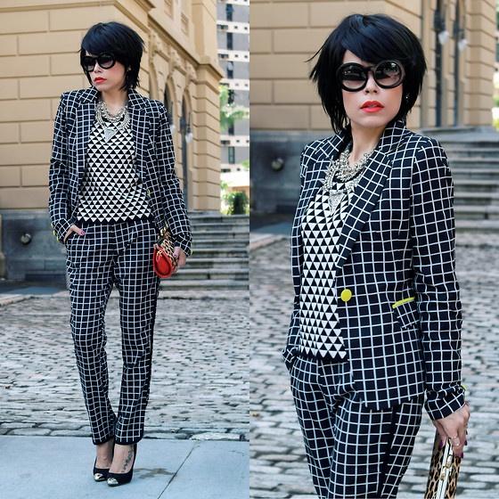 mixing and matching different print and patterns outfit ideas 8
