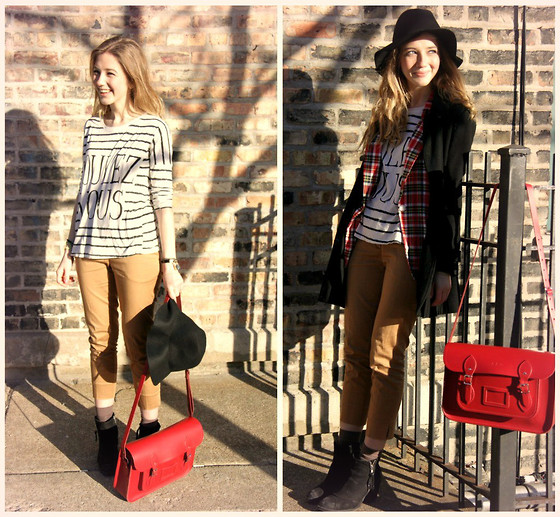 plaid and stripes outfit ideas 5