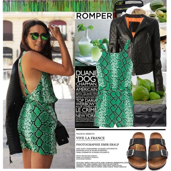 stylish ways to wear a romper playsuit 7