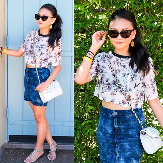 Denim Skirts With Clogs Wedges Sandals Outfit Ideas 6