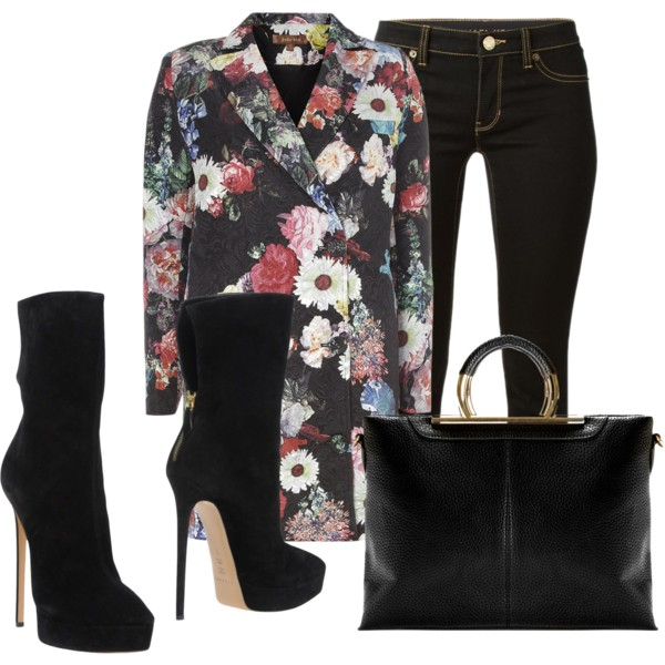 outfit ideas with floral coats 10