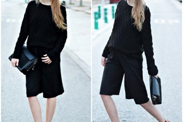 outfit ideas with the classic black sweater 1