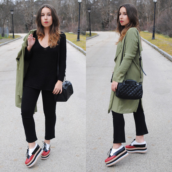 outfit ideas with the classic black sweater 4
