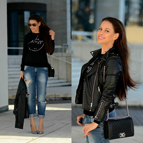 outfit ideas with the classic black sweater 6