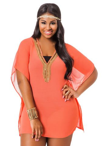 Beachwear. Unwind on the beach, recline by the pool or sip cocktails in the shade in our range of women's plus size beachwear.