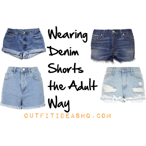 Wearing Denim Shorts the Adult Way - Outfit Ideas HQ