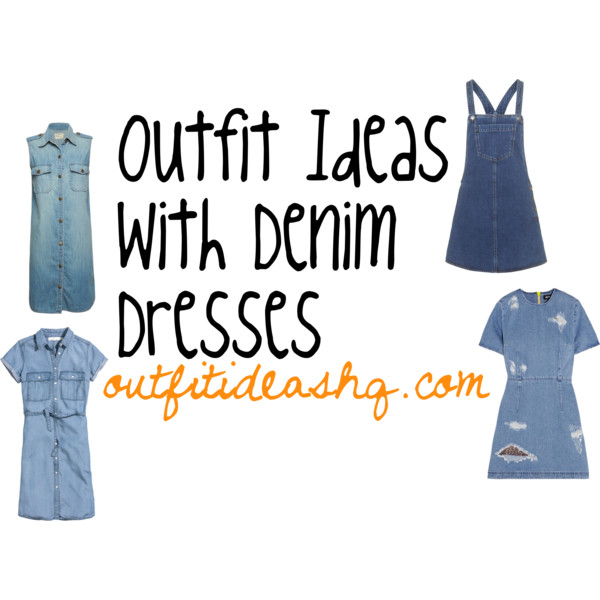 outfit ideas with denim dress 11