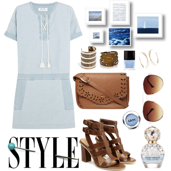 outfit ideas with denim dress 4