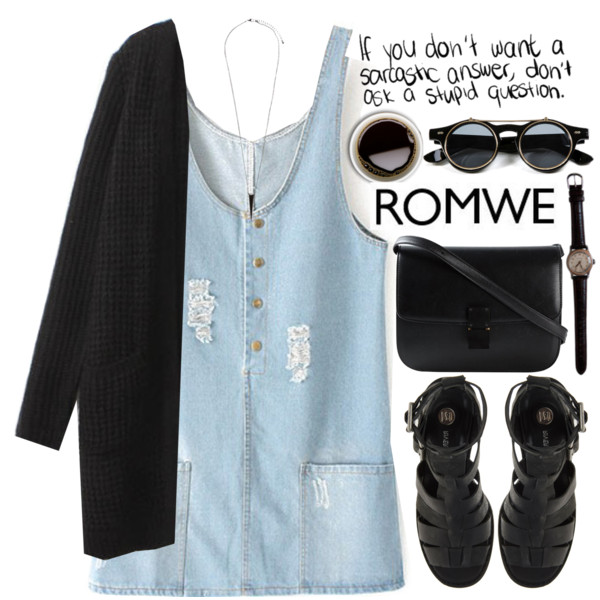 outfit ideas with denim dress 5