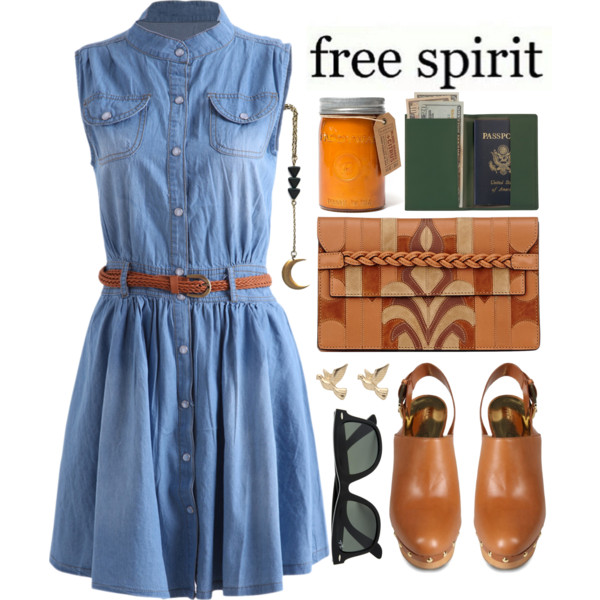 outfit ideas with denim dress 6