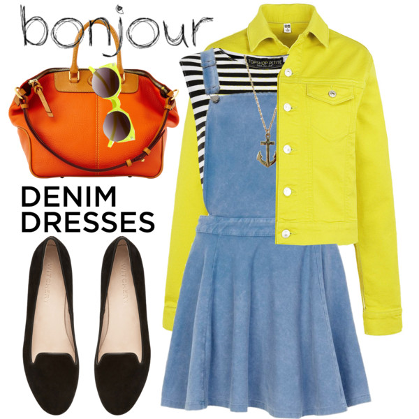 outfit ideas with denim dress 7
